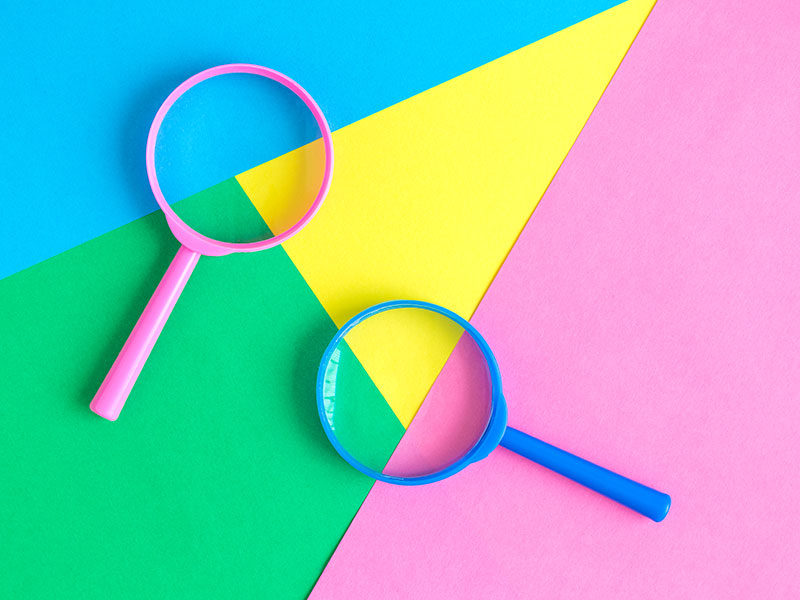 Magnifying Glasses Colorful