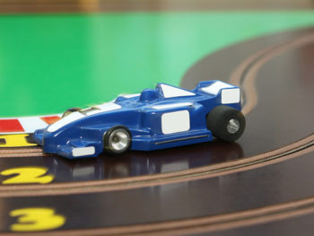 Racing Car on Toy Track